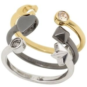 Coach F24238 Stardust Ring Set Of 3 Size 8